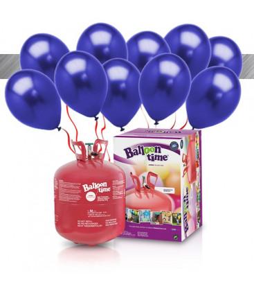 Kit Elio LARGE + 30 palloncini metallizzati blu - Ø 27 cm