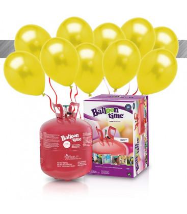 Kit Elio LARGE + 30 palloncini metallizzati gialli - Ø 27 cm