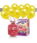 Kit Elio LARGE + 30 palloncini metallizzati giallo - Ø 27 cm