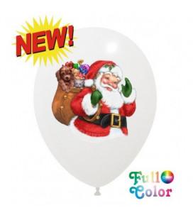 Palloncini Babbo Natale Full Color - Ø 30 cm - 100 pezzi