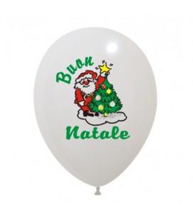 Palloncini Babbo Natale 4 colori - Ø 30 cm - 50 pezzi