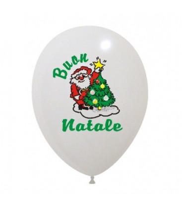 Palloncini Babbo Natale 4 colori - Ø 30 cm - 100 pezzi