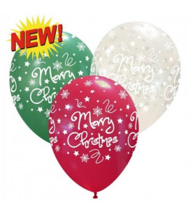 Palloncini assortiti Notte di Natale - Ø 30 cm - 100 pezzi