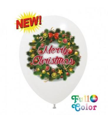 Palloncini Ghirlanda Natale Full Color - Ø 30 cm - 100 pezzi