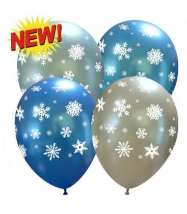 Palloncini assortiti Fiocchi di Neve - Ø 27 cm - 50 pezzi