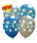 Palloncini assortiti Fiocchi di Neve - Ø 27 cm - 100 pezzi