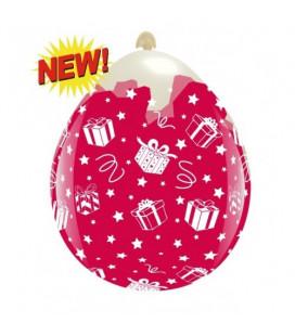 Palloncini Regali di Natale - Ø 45 cm - 10 pezzi