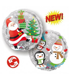 Babbo Natale, pupazzo e pinguini HeXL® - Ø 46 cm