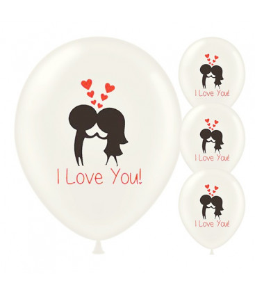 Palloncini I Love You - Ø 30cm - 50 pezzi