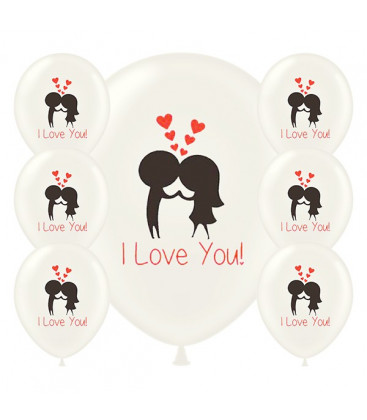 Palloncini I Love You - Ø 30cm - 100 pezzi