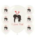 Palloncini I Love You - Ø 30cm - 100 pezzi