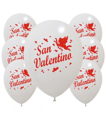 Palloncini bianchi San Valentino - Ø 30cm - 100 pezzi