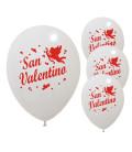 Palloncini bianchi San Valentino - Ø 30cm - 50 pezzi