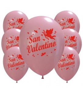 Palloncini rosa San Valentino - Ø 30cm - 100 pezzi