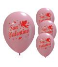 Palloncini rosa San Valentino - Ø 30cm - 50 pezzi