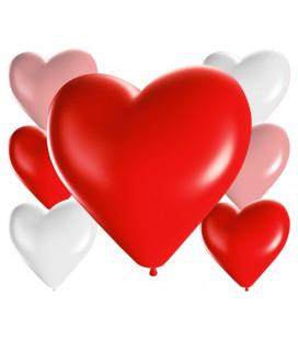 Palloncini cuore assortiti - Ø 25cm - 100 Pezzi