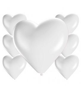Palloncini cuore bianchi - Ø 25cm - 100 Pezzi