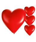 Palloncini cuore rossi - Ø 25cm - 50 Pezzi