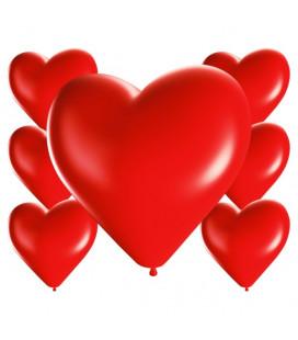 Palloncini cuore rossi - Ø 25cm - 100 Pezzi