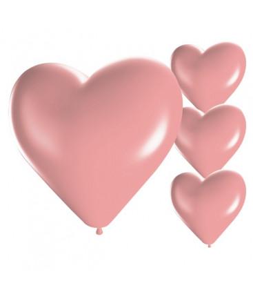 Palloncini cuore rosa - Ø 25cm - 50 Pezzi