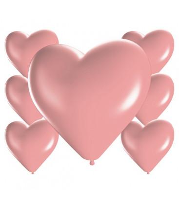 Palloncini cuore rosa - Ø 25cm - 100 Pezzi