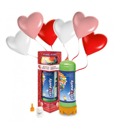 Kit Elio MEDIUM + 16 palloncini assortiti cuore - Ø 25 cm
