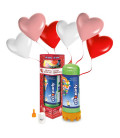 Kit Elio MEDIUM + 16 palloncini assortiti cuore biodegradabili - Ø 25 cm
