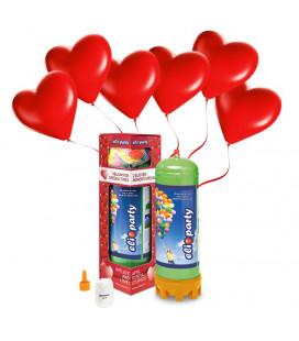 Kit Elio MEDIUM + 16 palloncini rossi cuore - Ø 25 cm