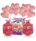 Kit Elio X-LARGE + 60 palloncini rosa Cuore - Ø 25 cm