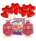 Kit Elio X-LARGE + 60 palloncini rossi Cuore - Ø 25 cm