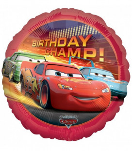 Cars - Birthday Champ Foil - Ø 45 cm