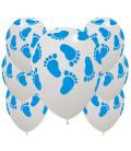 Palloncini Piedini Azzurri - Ø 30 cm - confezione da 100