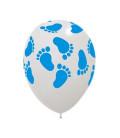 Palloncini Piedini Azzurri - Ø 30 cm - confezione da 50