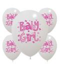 Palloncini Baby Girl Rosa - Ø 30 cm - confezione da 50