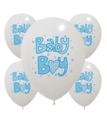 Palloncini Baby Boy Azzurri - Ø 30 cm - confezione da 50
