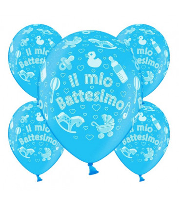 Palloncini battesimo Azzurri - Ø 30 cm - confezione da 25