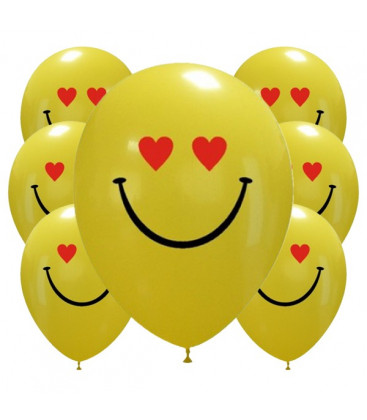 Palloncini Hearts smiles - Ø 30cm - 100 pezzi