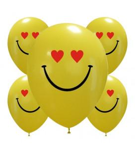 Palloncini Hearts smiles - Ø 30cm - 50 pezzi