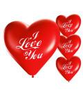 Palloncini cuore rossi I LOVE YOU - Ø 25cm - 50 Pezzi