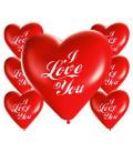 Palloncini cuore rossi I LOVE YOU - Ø 25cm - 100 Pezzi
