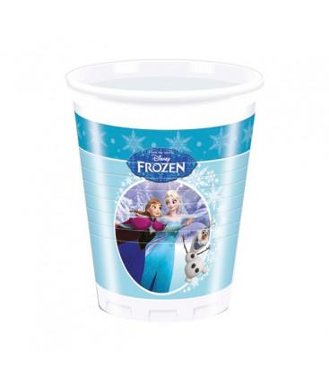Frozen - Bicchiere Plastica 200 ml - 8 pezzi