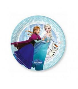 Frozen - Piatto Ice Skating 20 cm - 8 pezzi