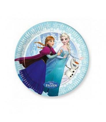 Frozen - Piatto 20 cm - 8 pezzi