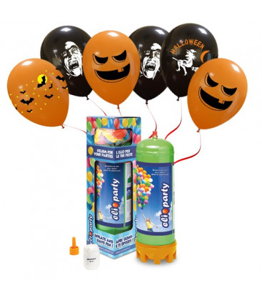 Kit Elio MEDIUM + 16 palloncini assortiti Halloween - Ø 27 cm