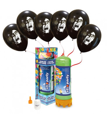 Kit Elio MEDIUM + 16 palloncini Dracula - Ø 27 cm
