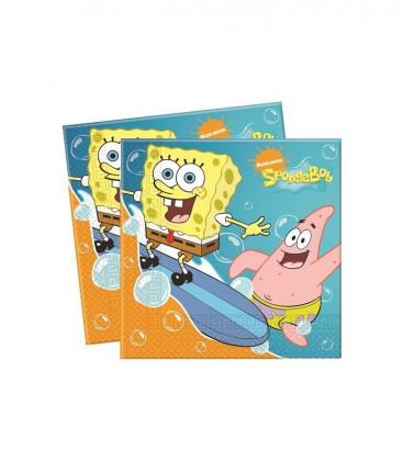 SpongeBob - Tovaglioli 33x33 cm - 20 pezzi