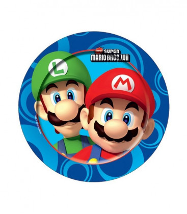 Super Mario - Piatto 23 cm - 8 pezzi