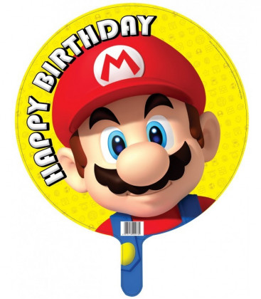 Super Mario - Happy Birthday Foil - Ø 45 cm