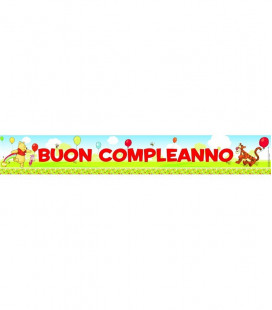 Winnie the Pooh - Set 3 Banner Buon Compleanno