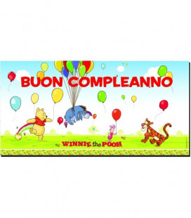 Winnie the Pooh - Wall Banner Buon Compleanno